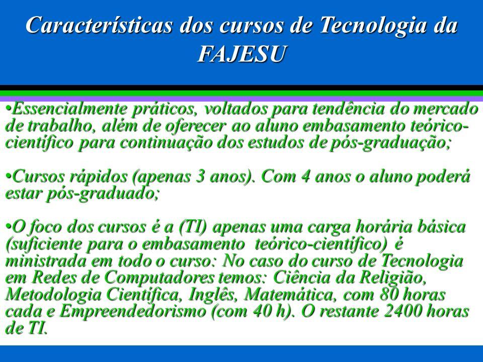 Módulo I Módulo II Módulo III 5º Período O aluno receberá no 6º período o O aluno receberá no 6º período o diploma com o título de Tecnólogo em título