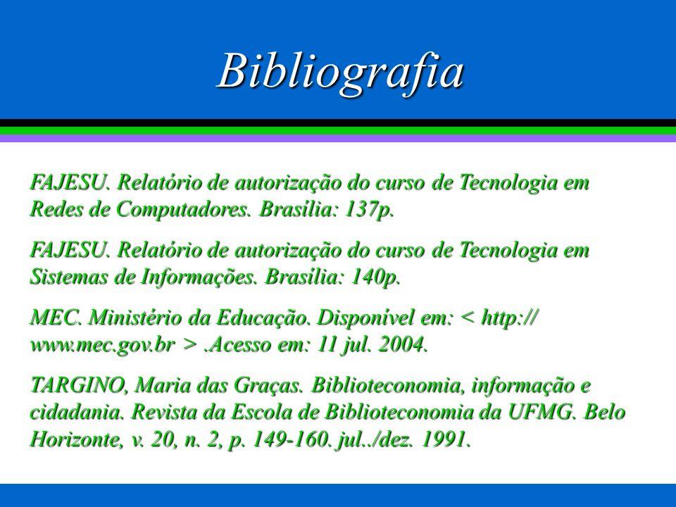 Muito obrigado!! Professor João Batista Simão Coordenador dos cursos de Tecnologia - Fajesu jb.simao@terra.com.br; ti@fajesu.com.br Tel: 9994-5146 Não