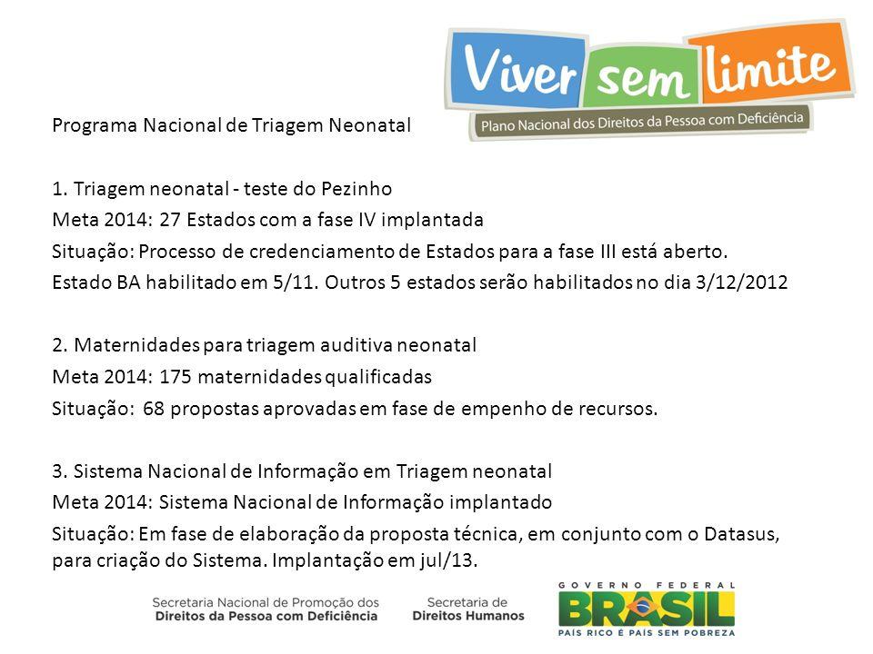 Programa Nacional de Triagem Neonatal 1.