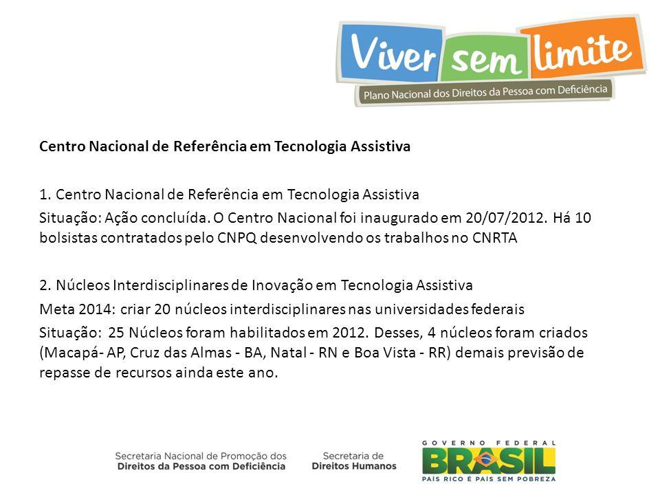 Centro Nacional de Referência em Tecnologia Assistiva 1.