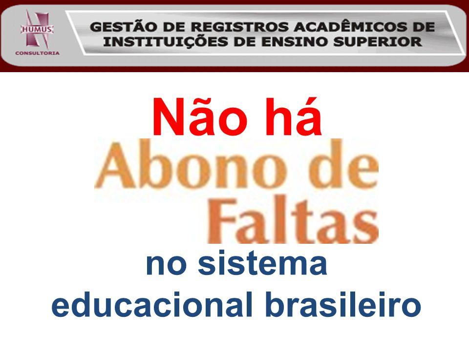 Não há no sistema educacional brasileiro