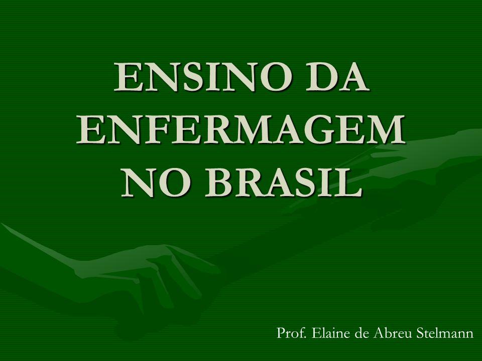 ENSINO DA ENFERMAGEM NO BRASIL Prof. Elaine de Abreu Stelmann