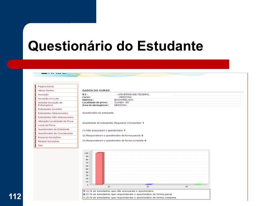 Questionário do Estudante 112