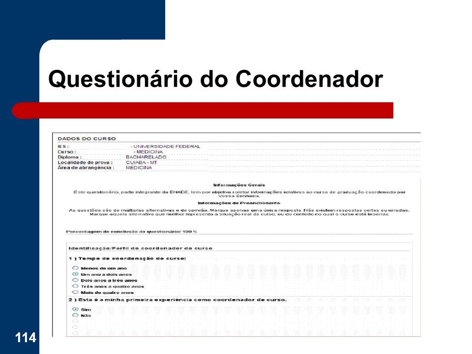 Questionário do Coordenador 114