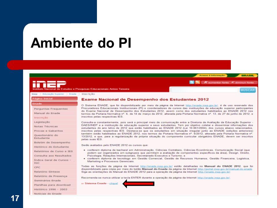 Ambiente do PI 17