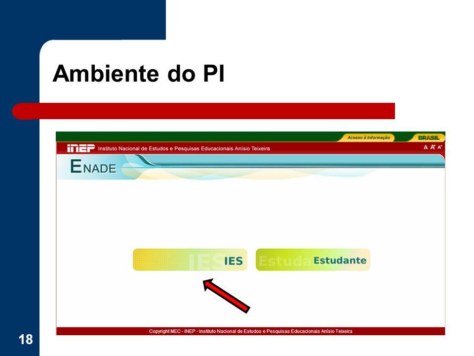 Ambiente do PI 18