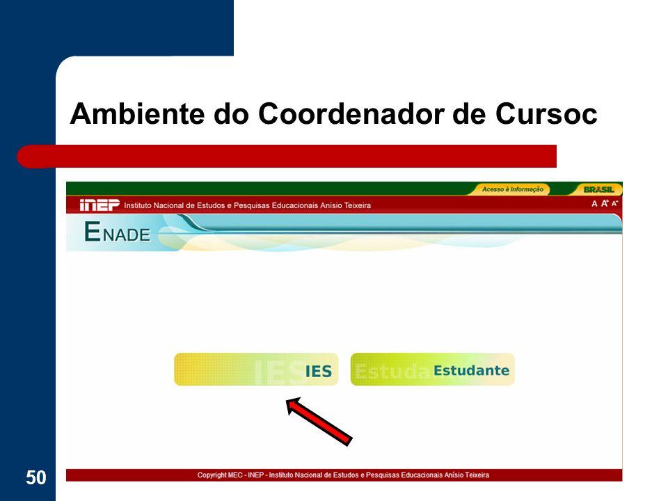 Ambiente do Coordenador de Cursoc 50