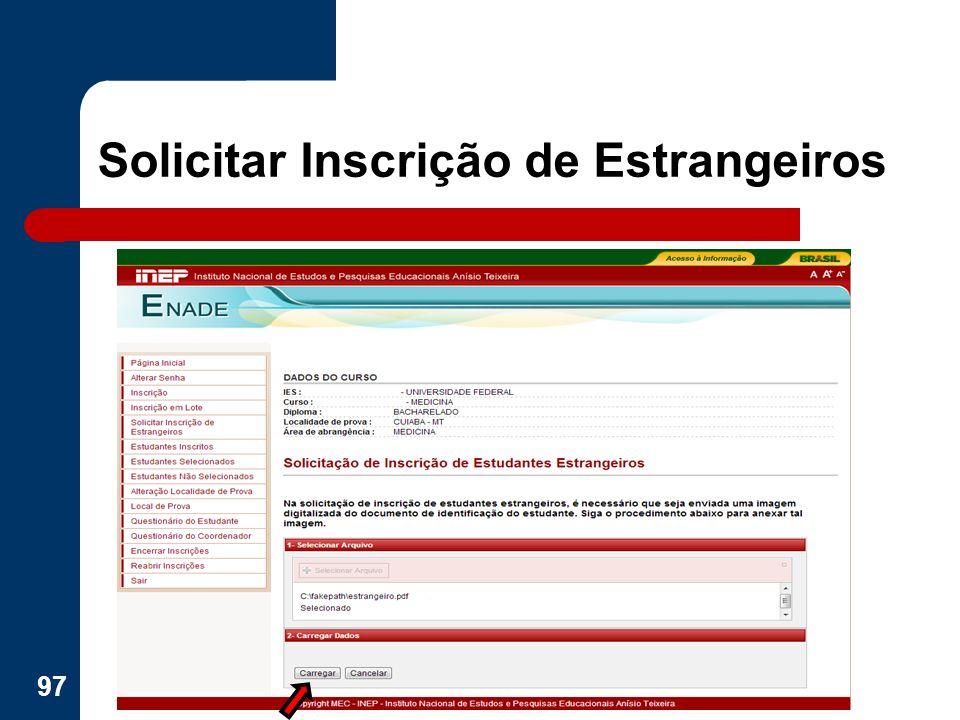 Solicitar Inscrição de Estrangeiros 97
