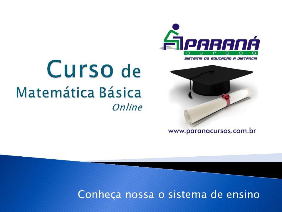 O Curso de matemática Básica Online conta com todos os benefícios que um curso online oferece (flexibilidade, uso de ferramentas disponíveis na internet, mais canais de interatividade, etc).