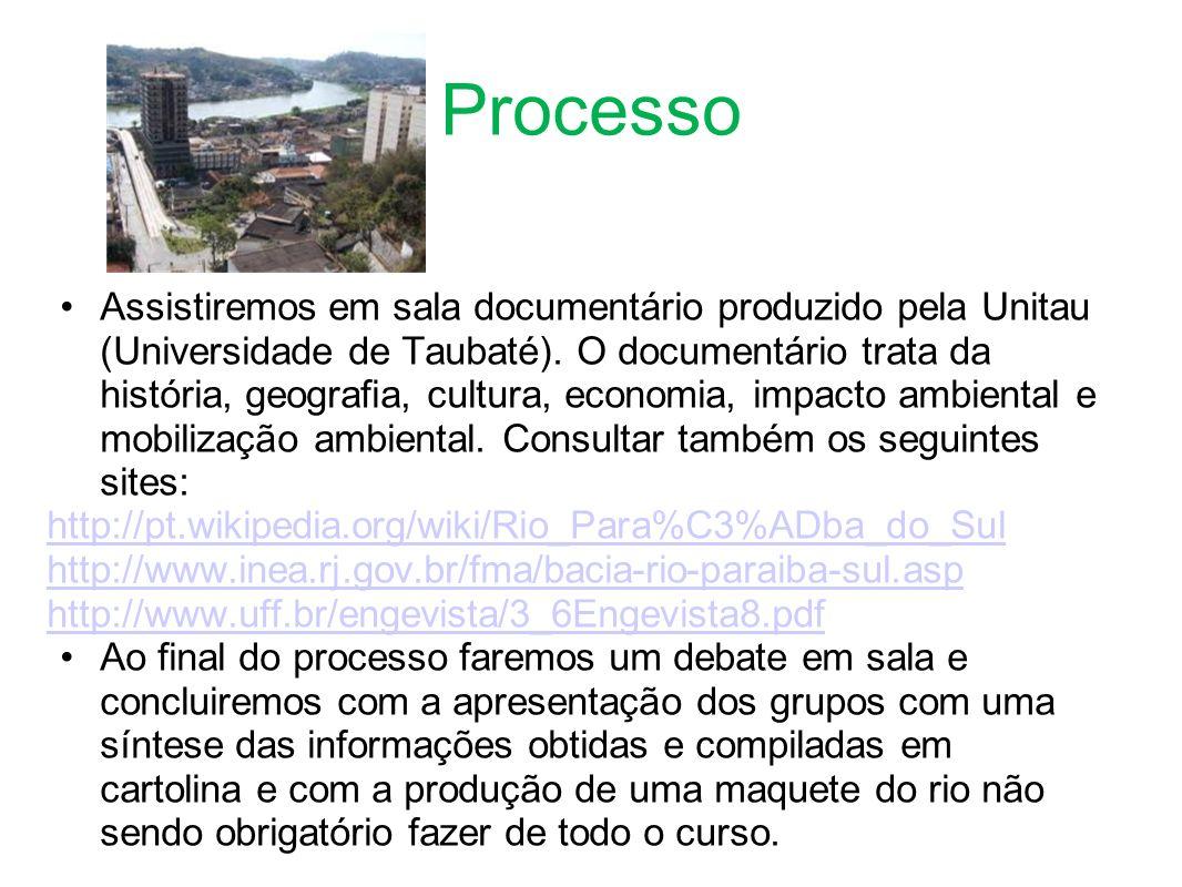 Processo Assistiremos em sala documentário produzido pela Unitau (Universidade de Taubaté).