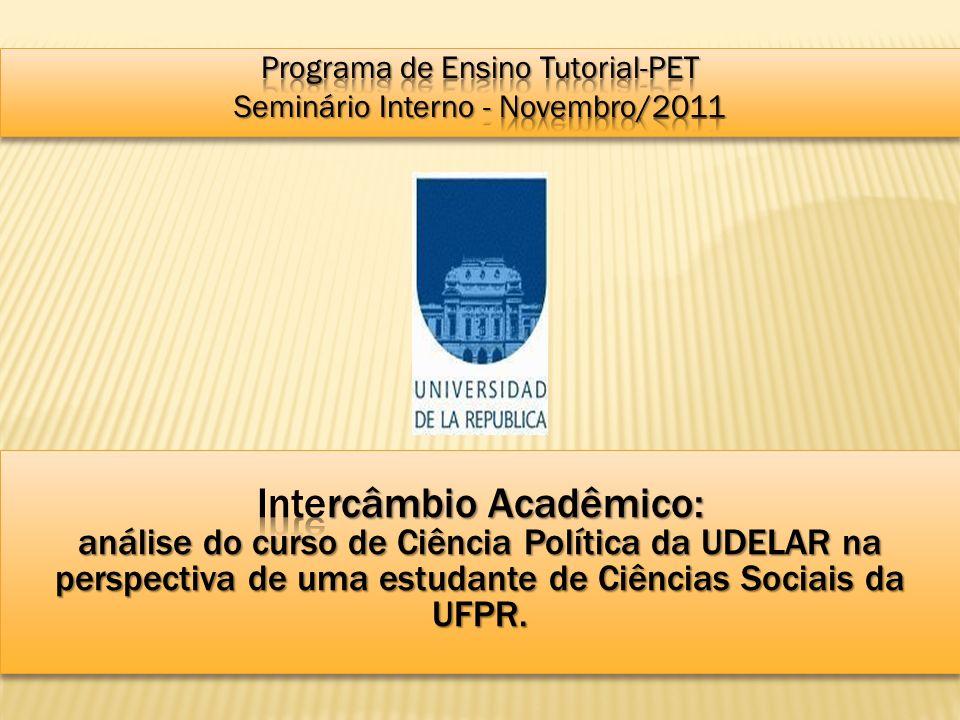 1.A Faculdade de Ciências Sociais; 2. O curso de Ciência Política; 3.
