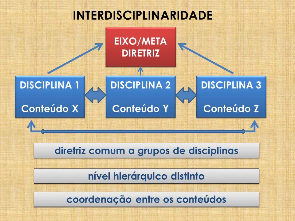 INTERDISCIPLINARIDADE DISCIPLINA 1 Conteúdo X DISCIPLINA 1 Conteúdo X DISCIPLINA 3 Conteúdo Z DISCIPLINA 3 Conteúdo Z DISCIPLINA 2 Conteúdo Y DISCIPLI