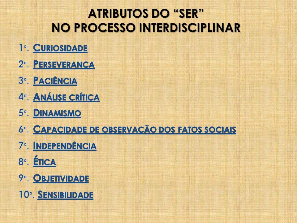 ATRIBUTOS DO SER NO PROCESSO INTERDISCIPLINAR