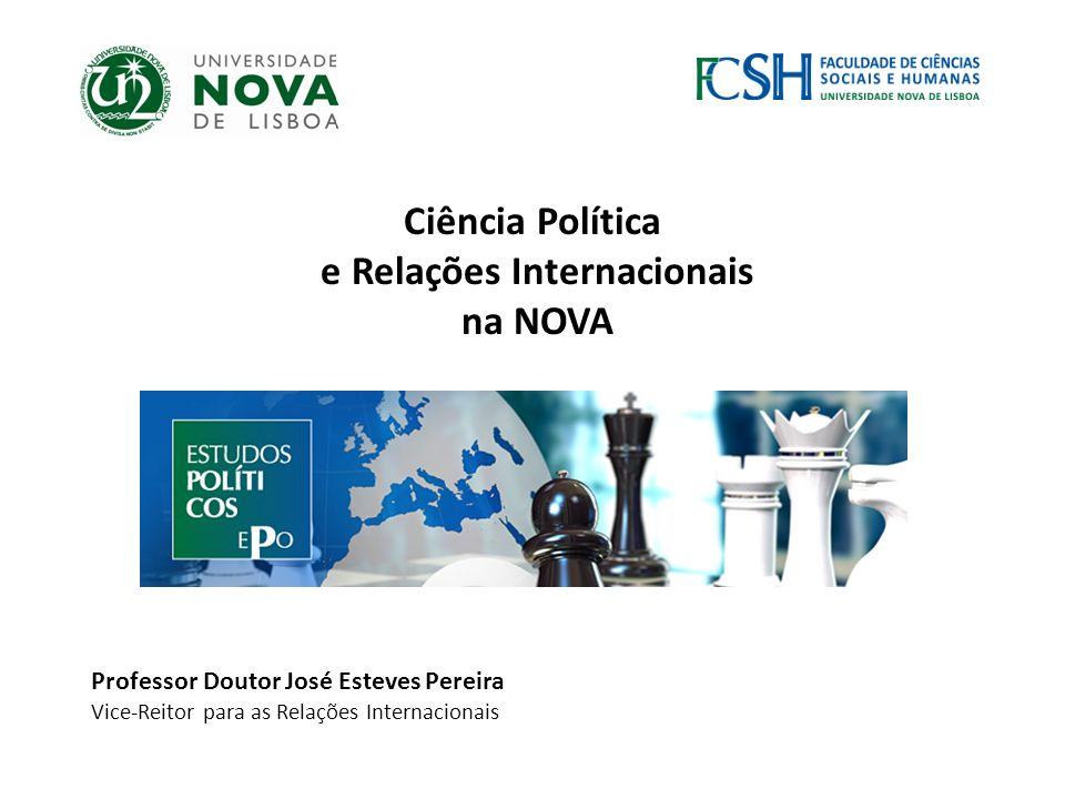 Outubro de 2012 Ciência Política e Relações Internacionais na NOVA Professor Doutor José Esteves Pereira Vice-Reitor para as Relações Internacionais