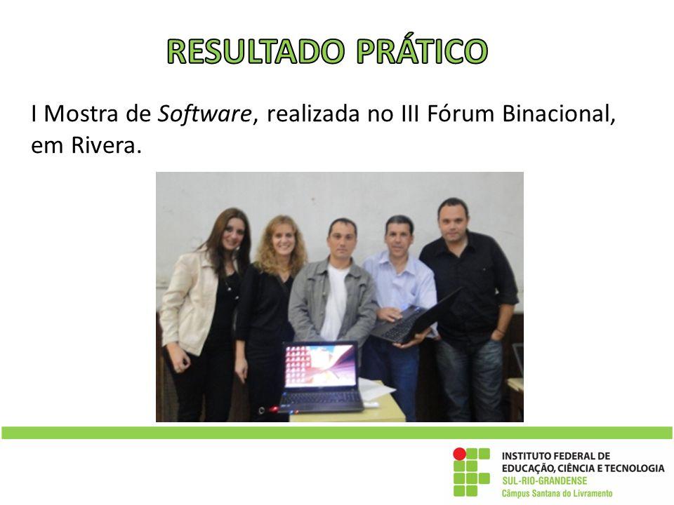 I Mostra de Software, realizada no III Fórum Binacional, em Rivera.