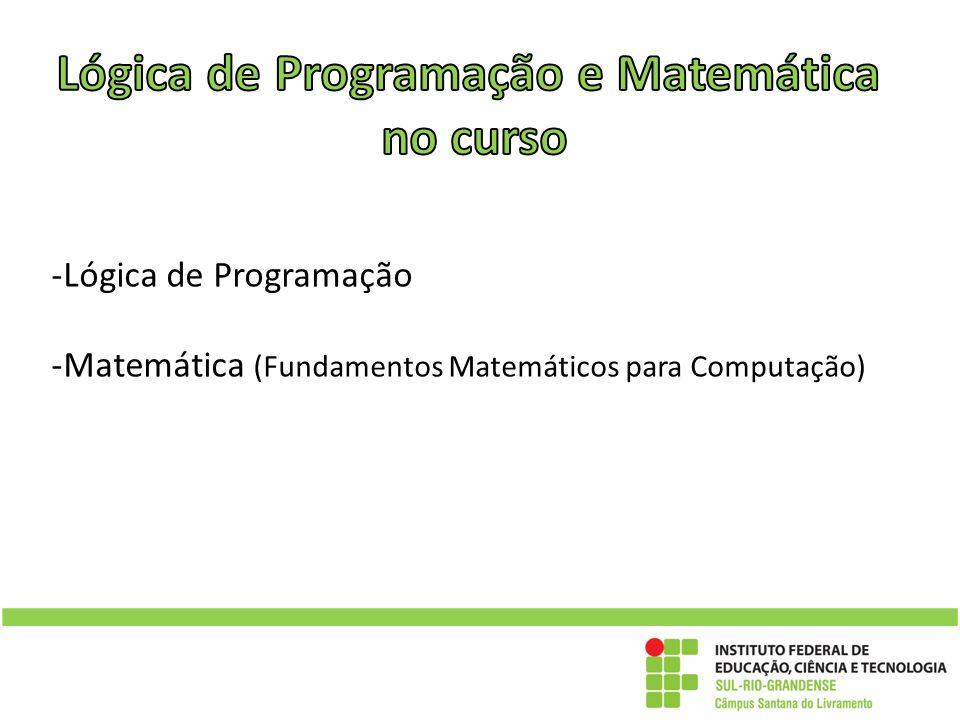 -Lógica de Programação -Matemática (Fundamentos Matemáticos para Computação)