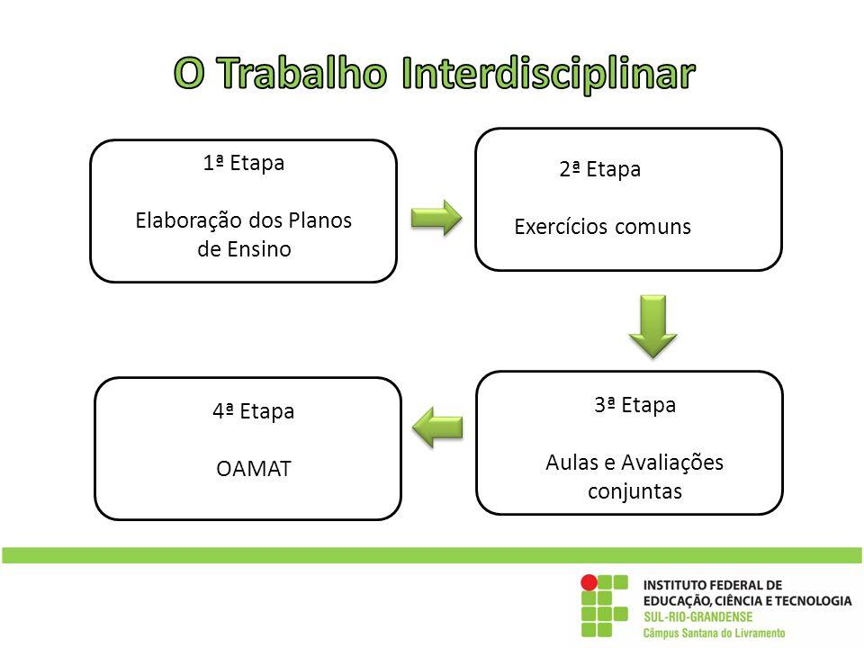 Os planos de ensino: conteúdos e Habilidades 1ª Etapa Elaboração dos Planos de Ensino