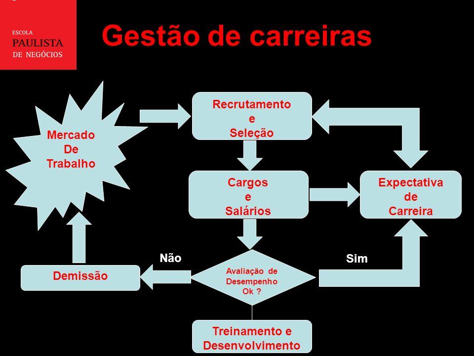 Gestão de carreiras Mercado De Trabalho Recrutamento e Seleção Cargos e Salários Avaliação de Desempenho Ok .