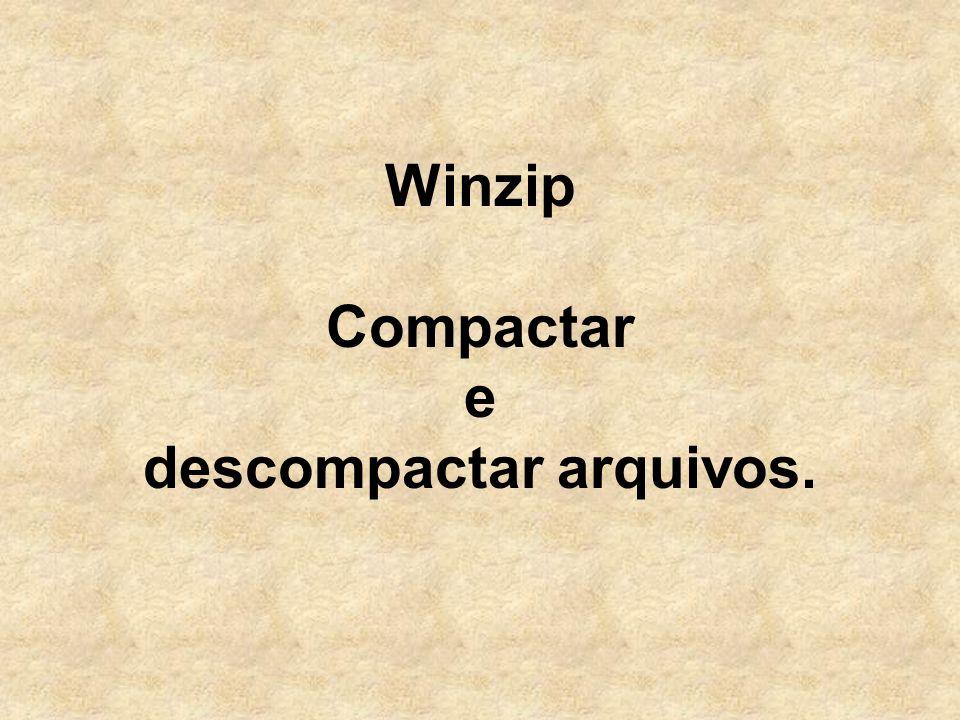 Winzip Compactar e descompactar arquivos.