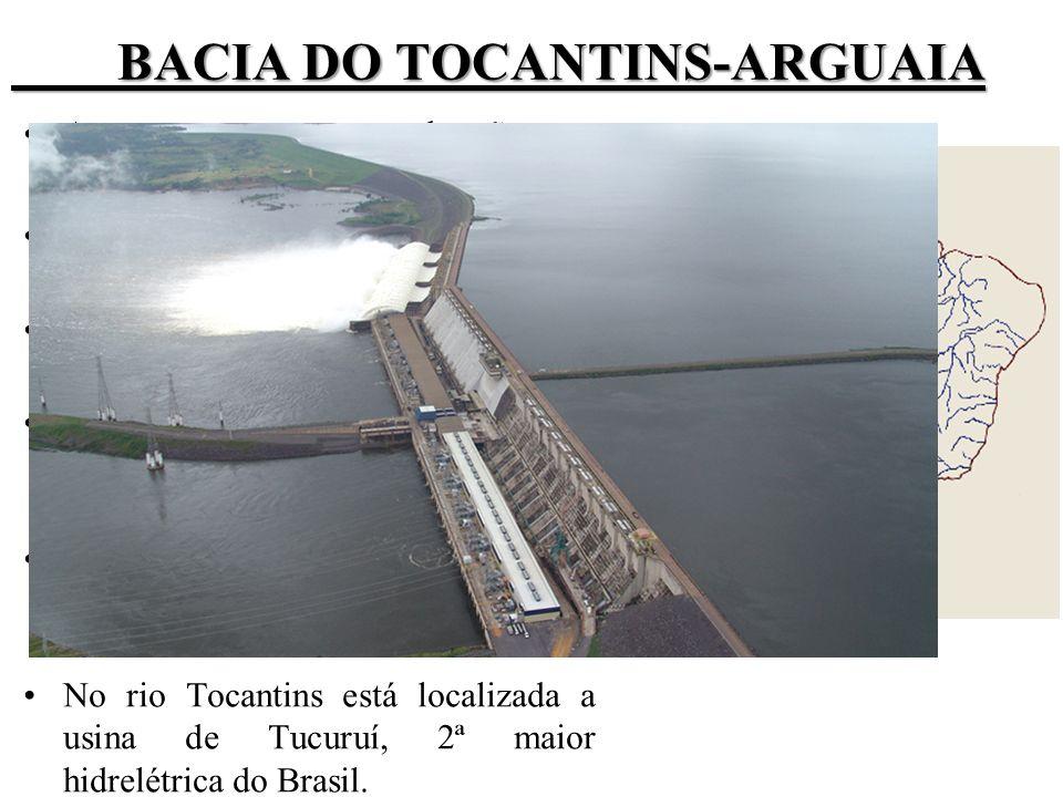 BACIA DO TOCANTINS-ARGUAIA Apresenta o escoamento de grãos ( com destaque para soja).