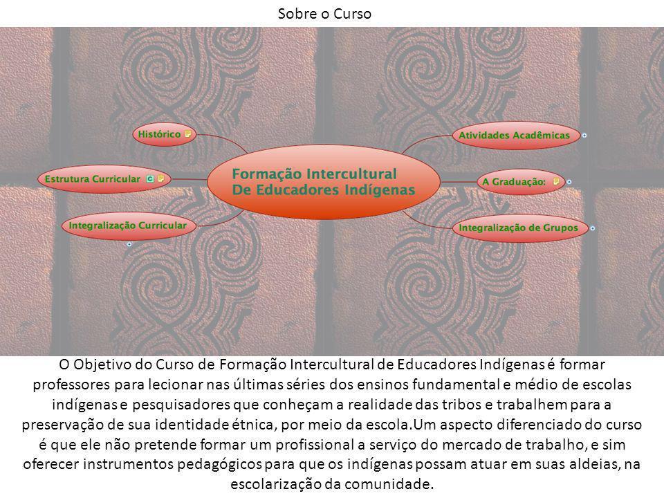 Sobre o Curso O Objetivo do Curso de Formação Intercultural de Educadores Indígenas é formar professores para lecionar nas últimas séries dos ensinos