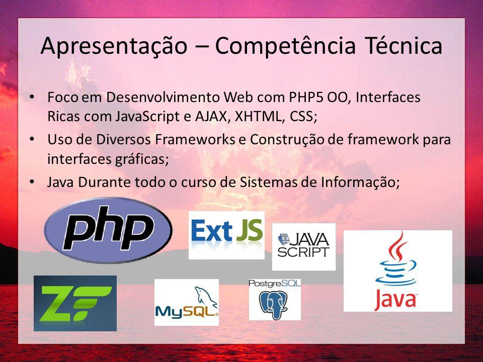 Apresentação – Atividades Atuais Professor SENAI Web Design, iniciação profissional e Programação OO; Freelancer em Desenvolvimento Web com Elgg, Wordpress e outros; TCC: Criação de um ambiente de suporte a Comunidades de Prática;