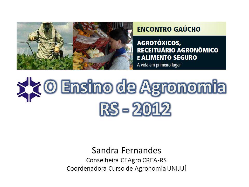 Sandra Fernandes Conselheira CEAgro CREA-RS Coordenadora Curso de Agronomia UNIJUÍ
