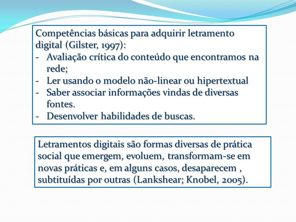 Letramentos digitais são formas diversas de prática social que emergem, evoluem, transformam-se em novas práticas e, em alguns casos, desaparecem, sub