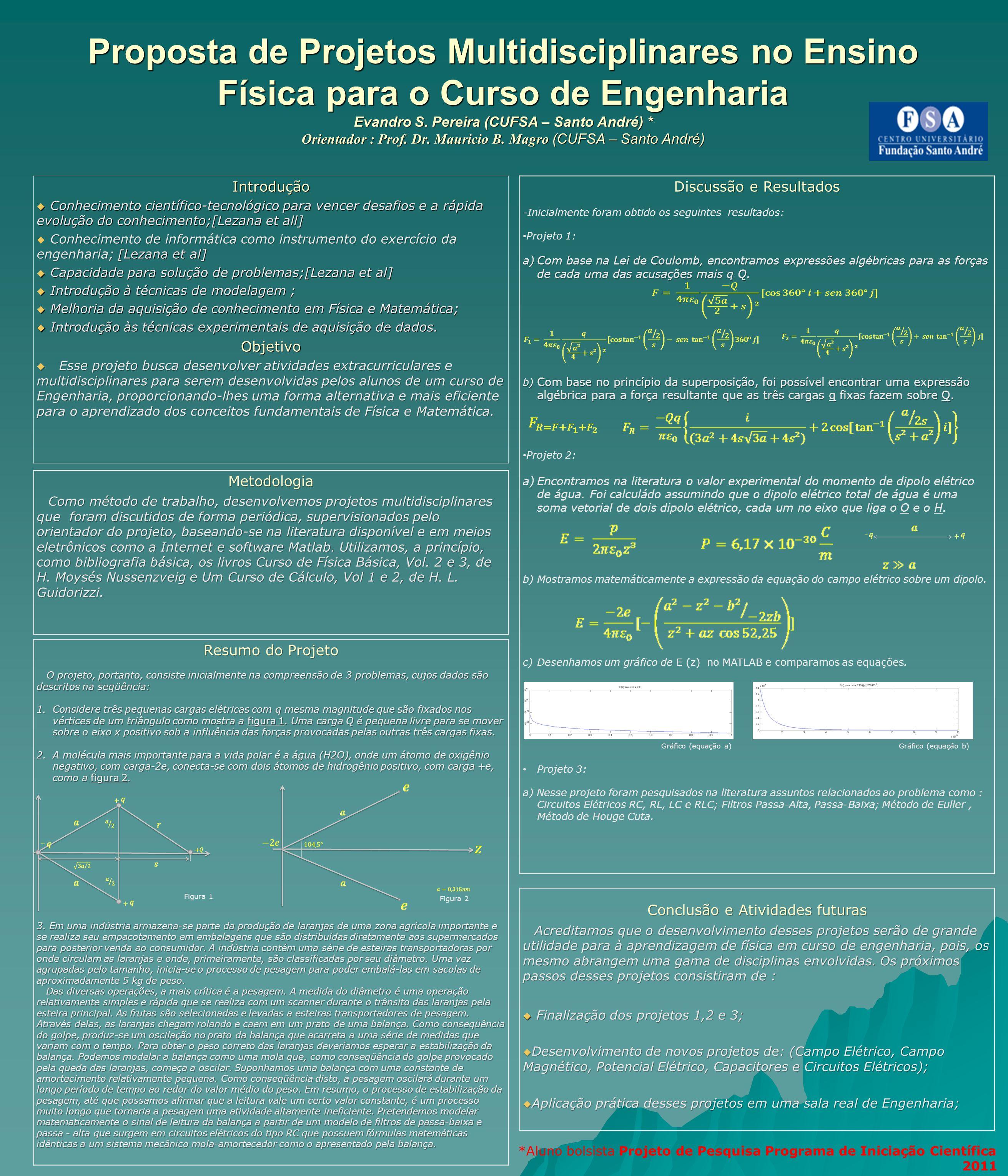Proposta de Projetos Multidisciplinares no Ensino Física para o Curso de Engenharia Evandro S. Pereira (CUFSA – Santo André) * Orientador : Prof. Dr.