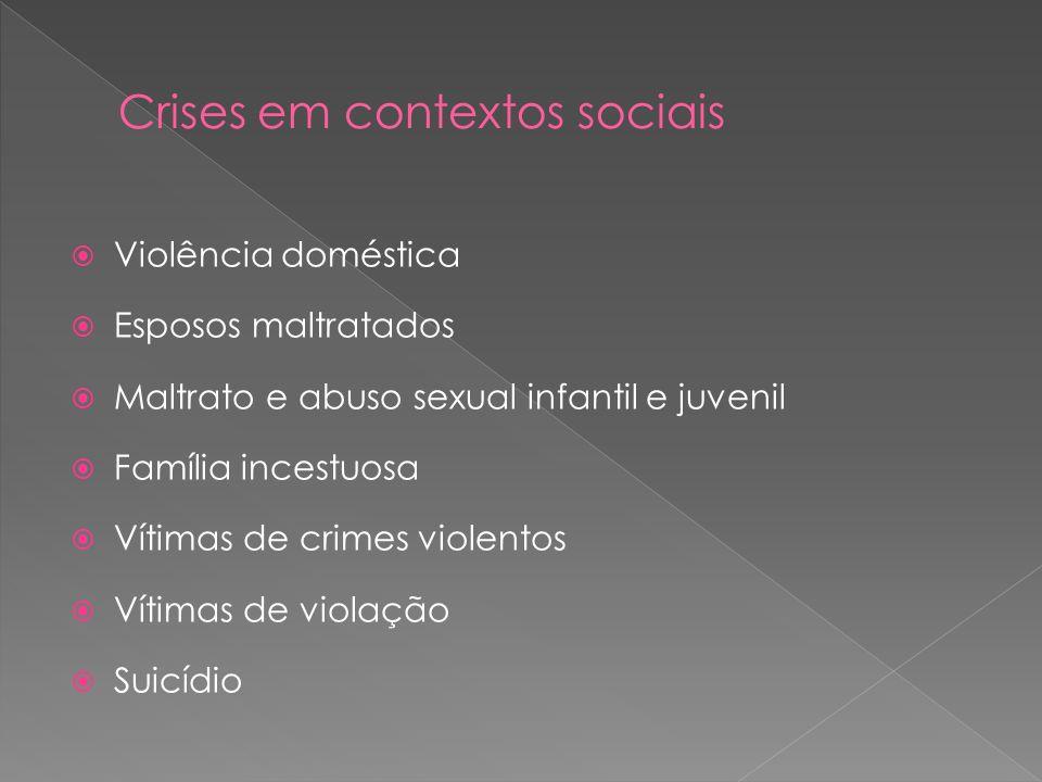 Violência doméstica Esposos maltratados Maltrato e abuso sexual infantil e juvenil Família incestuosa Vítimas de crimes violentos Vítimas de violação