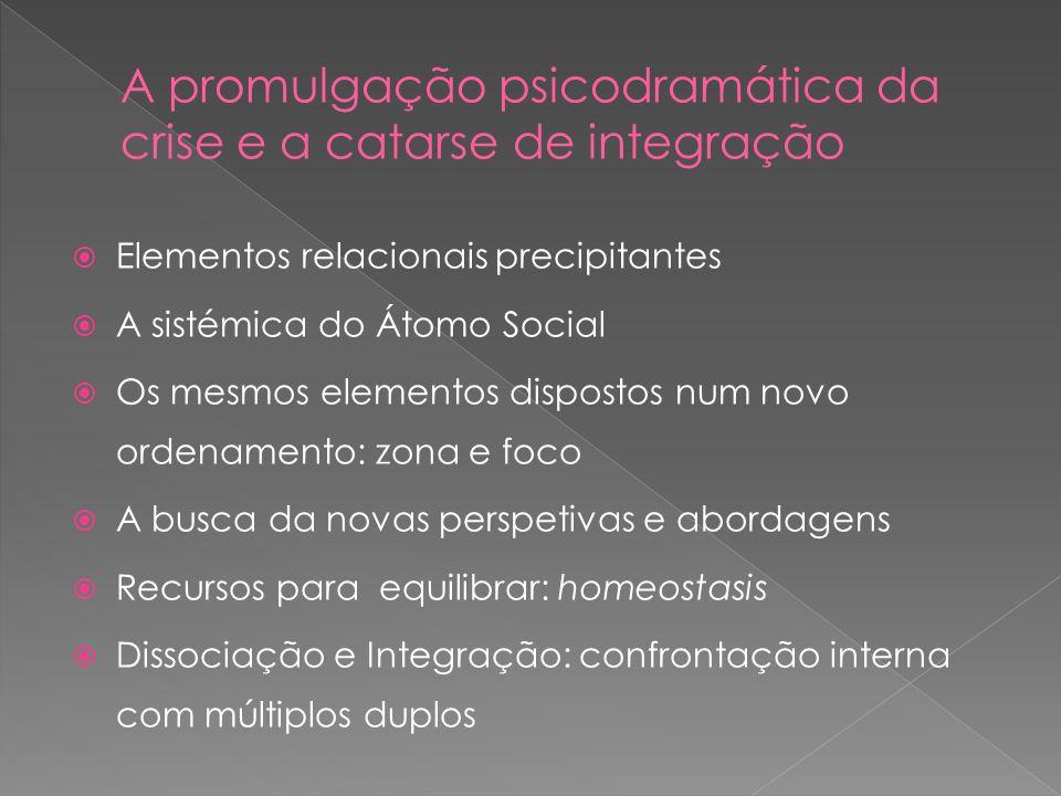 Elementos relacionais precipitantes A sistémica do Átomo Social Os mesmos elementos dispostos num novo ordenamento: zona e foco A busca da novas persp