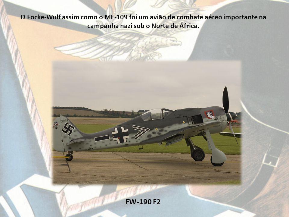 FW-190 F2 O Focke-Wulf assim como o ME-109 foi um avião de combate aéreo importante na campanha nazi sob o Norte de África.