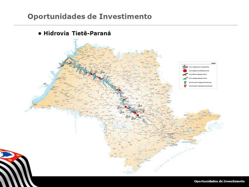 Hidrovia Tietê-Paraná Oportunidades de Investimento