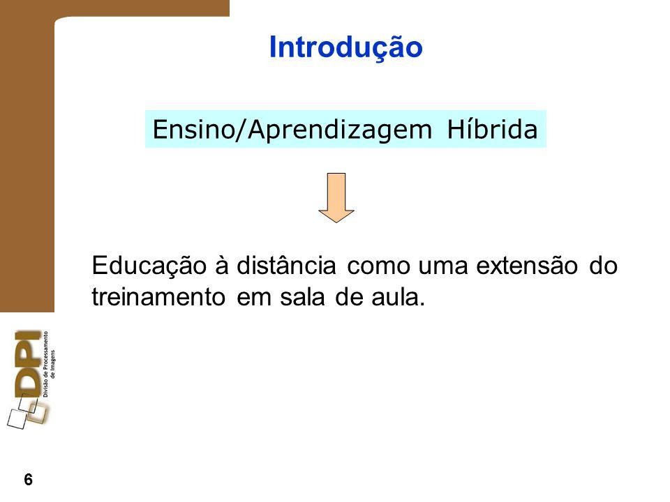 6 Introdução Educação à distância como uma extensão do treinamento em sala de aula.