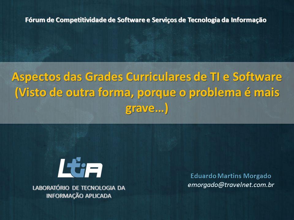 Aspectos das Grades Curriculares de TI e Software (Visto de outra forma, porque o problema é mais grave…) LABORATÓRIO DE TECNOLOGIA DA INFORMAÇÃO APLI
