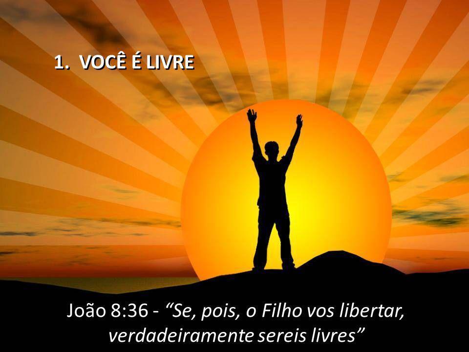 João 8:36 - Se, pois, o Filho vos libertar, verdadeiramente sereis livres João 8:36 - Se, pois, o Filho vos libertar, verdadeiramente sereis livres 1.
