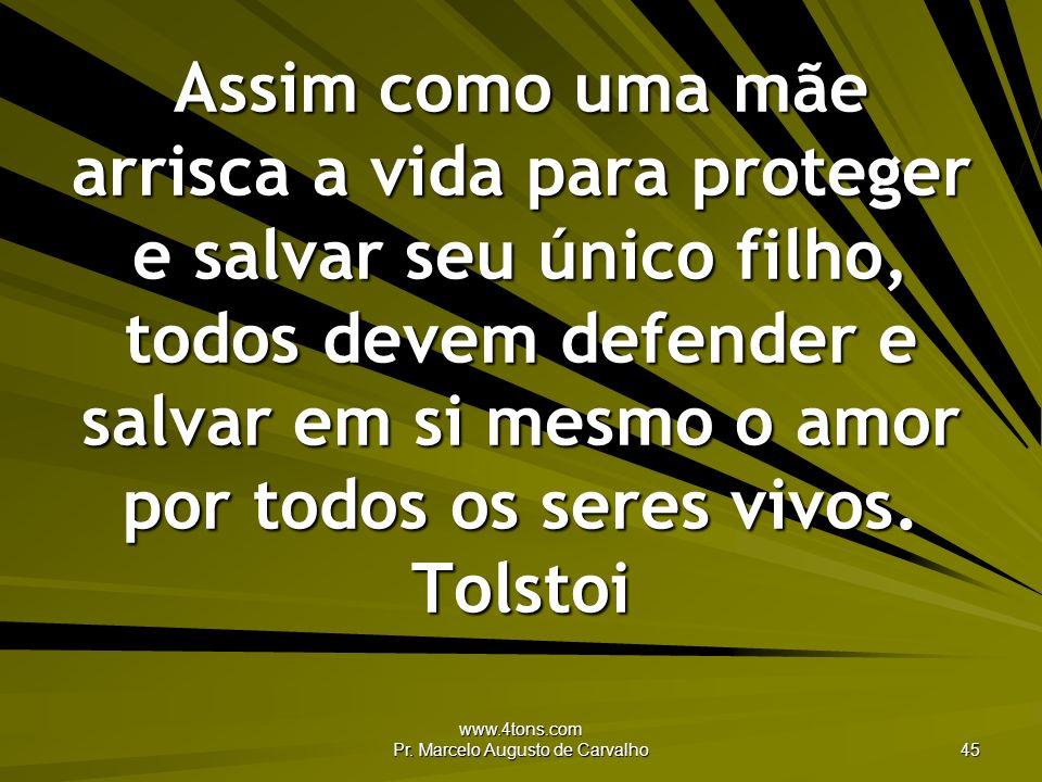 www.4tons.com Pr. Marcelo Augusto de Carvalho 45 Assim como uma mãe arrisca a vida para proteger e salvar seu único filho, todos devem defender e salv