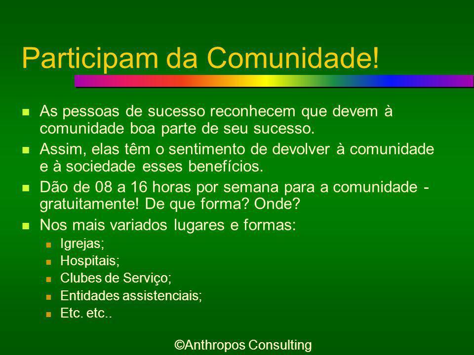E ainda... Participam da Comunidade ©Anthropos Consulting