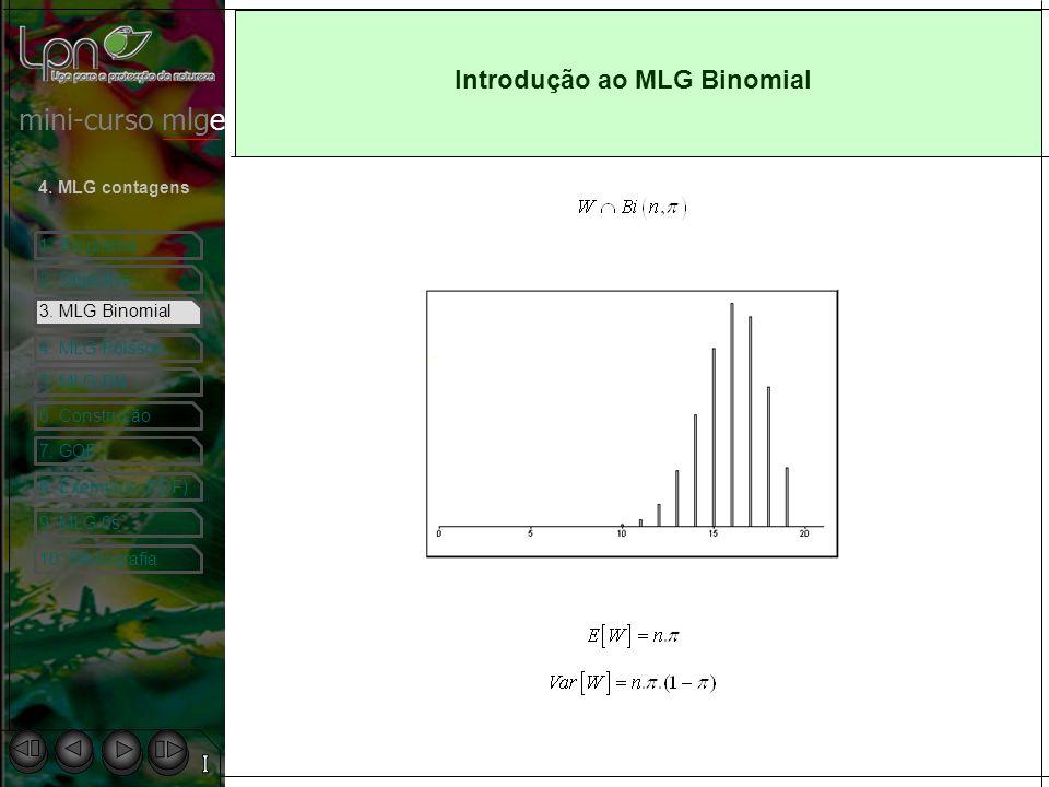 mini-curso mlge 1.Programa 2. Objectivo 4. MLG contagens 3.