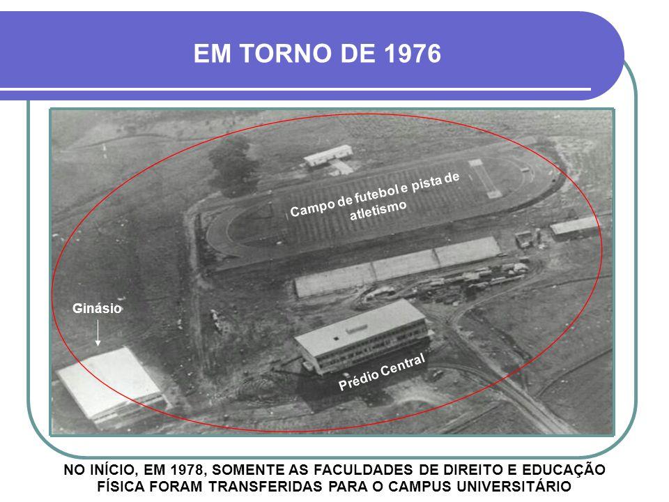 JÁ COM AS OBRAS INICIAIS GINÁSIO PRÉDIO CENTRAL CAMPO DE FUTEBOL EM TORNO DE 1975
