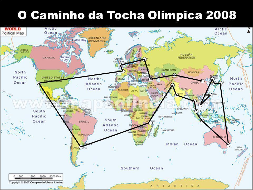 O Caminho da Tocha Olímpica 2008