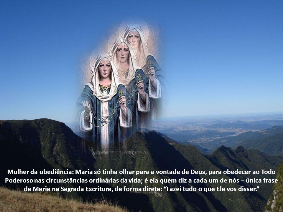 O mistério em Maria, que é o próprio Deus, a leva até a prima, para que esta possa ser curada.