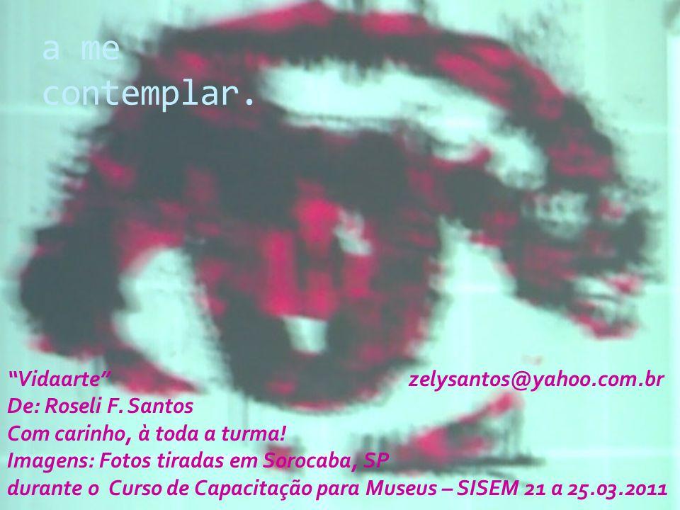 a me contemplar.Vidaarte zelysantos@yahoo.com.br De: Roseli F.