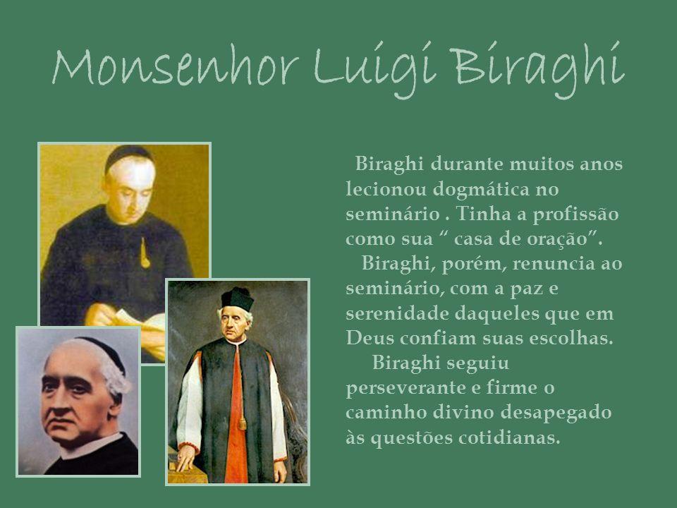 Biraghi durante muitos anos lecionou dogmática no seminário.