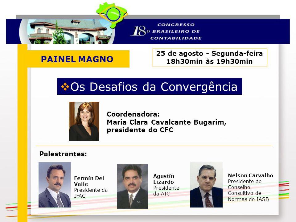 PAINEL MAGNO 25 de agosto - Segunda-feira 18h30min às 19h30min Os Desafios da Convergência Nelson Carvalho Presidente do Conselho Consultivo de Normas