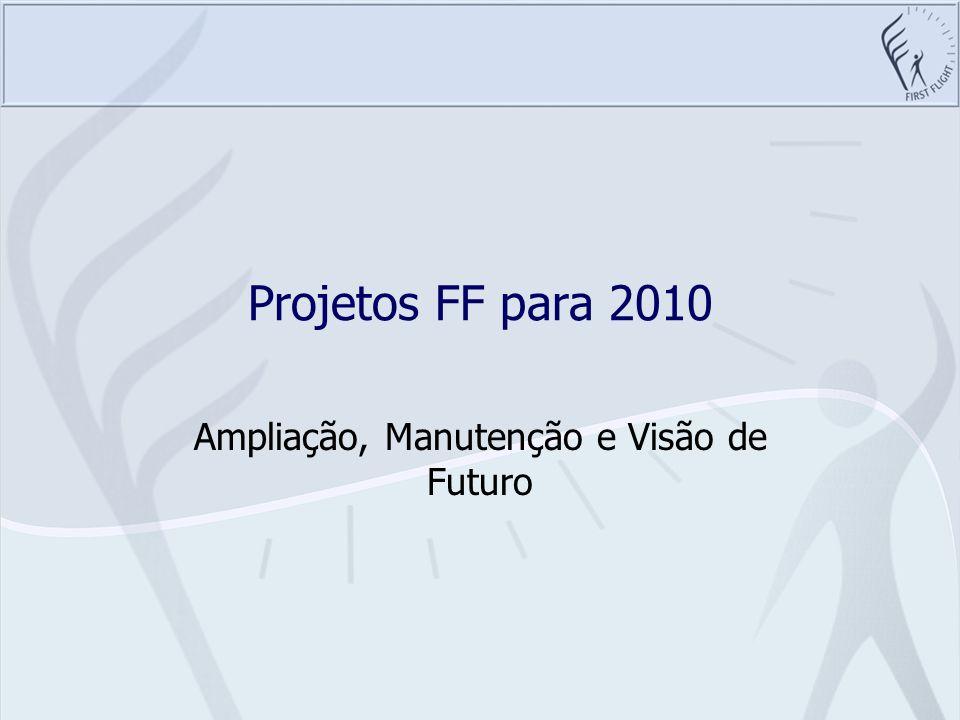 Projetos FF para 2010 Ampliação, Manutenção e Visão de Futuro