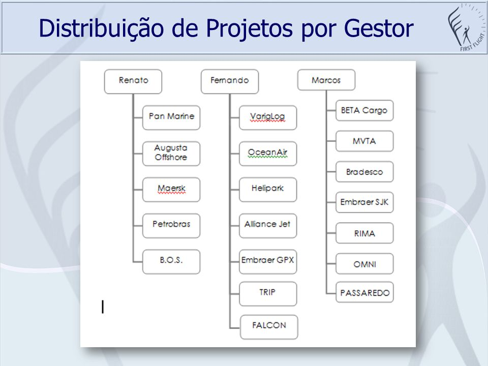 Distribuição de Projetos por Gestor