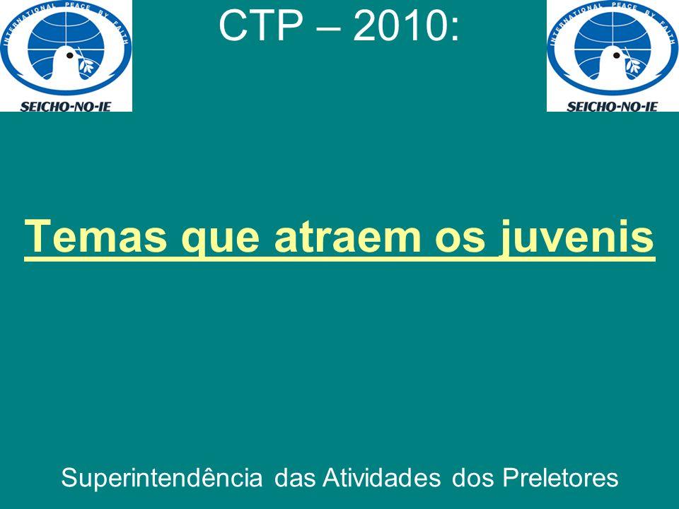 Temas que atraem os juvenis CTP – 2010: Superintendência das Atividades dos Preletores