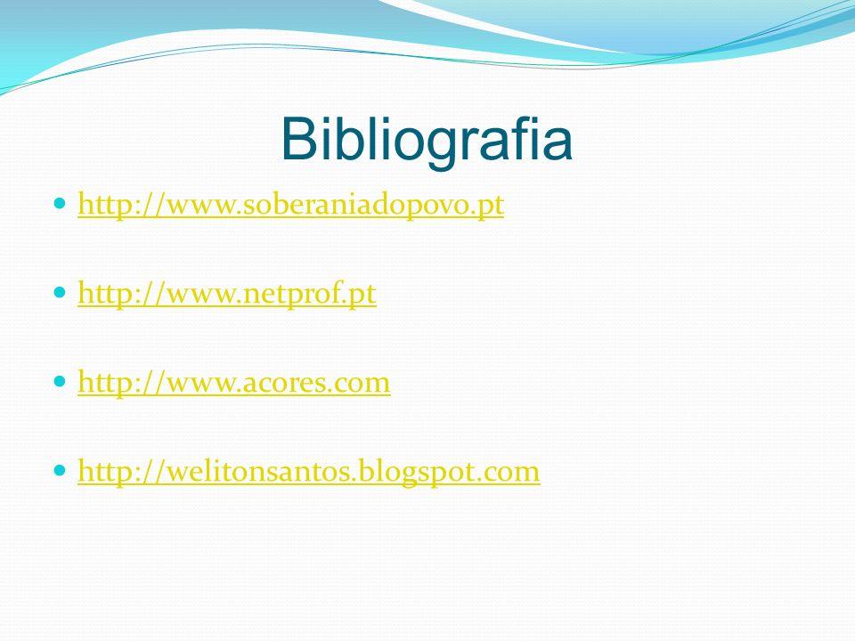 Bibliografia http://www.soberaniadopovo.pt http://www.netprof.pt http://www.acores.com http://welitonsantos.blogspot.com