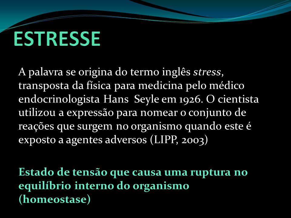 A palavra se origina do termo inglês stress, transposta da física para medicina pelo médico endocrinologista Hans Seyle em 1926. O cientista utilizou